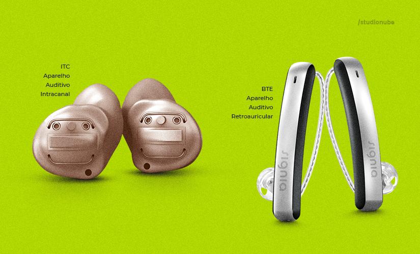 Quais as opções de aparelhos auditivos?