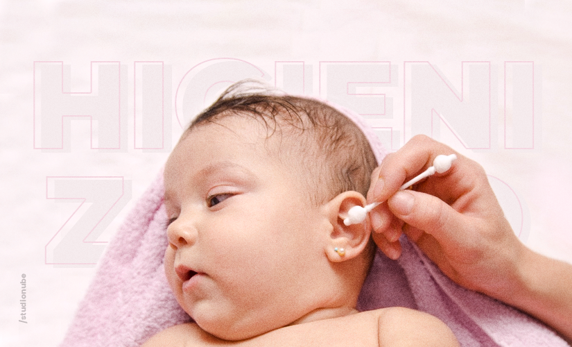 Saiba como higienizar corretamente o ouvido do bebê